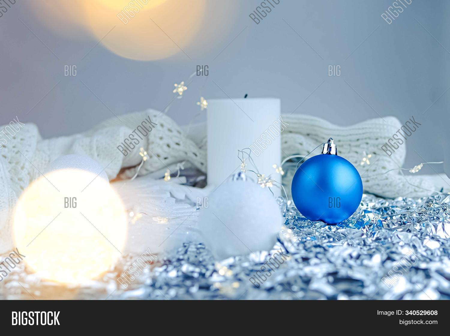 White Blue Holiday Image Photo Free Trial Bigstock