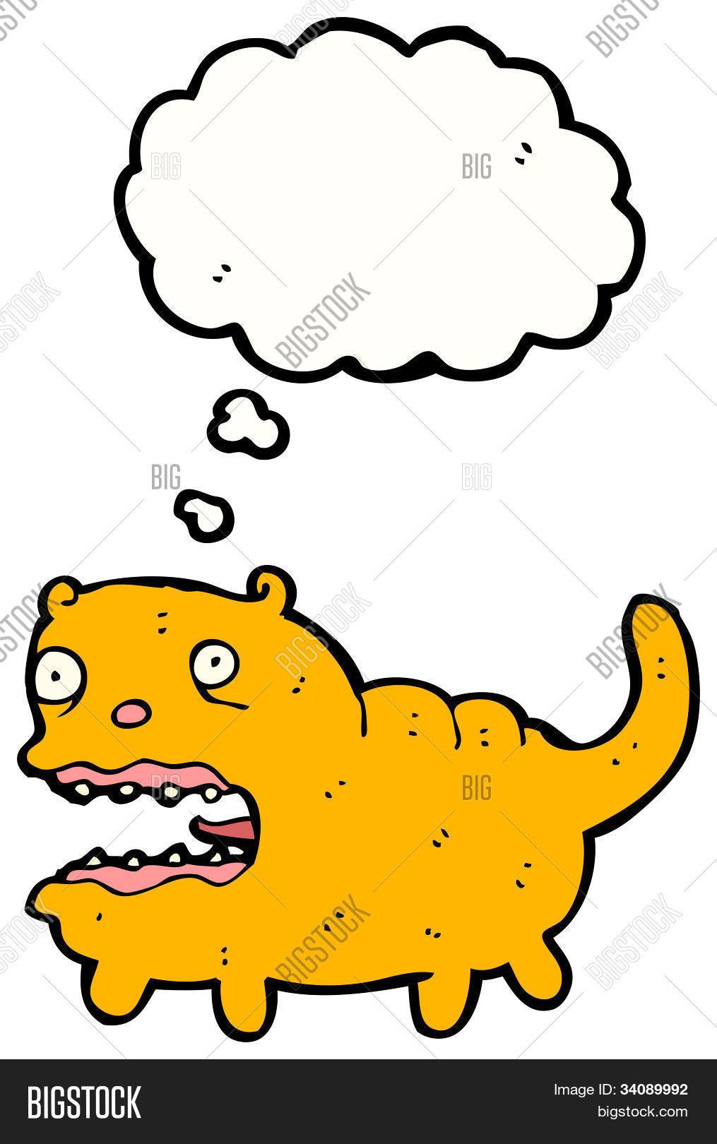 Cartoon Ugly Cat Image Photo Free Trial Bigstock