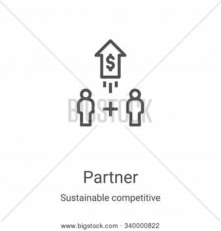 partner icon isolated on white background from sustainable competitive advantage collection. partner