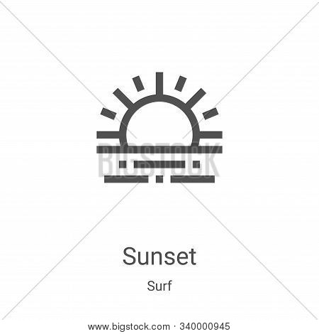 sunset icon isolated on white background from surf collection. sunset icon trendy and modern sunset