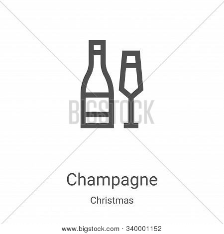 champagne icon isolated on white background from christmas collection. champagne icon trendy and mod