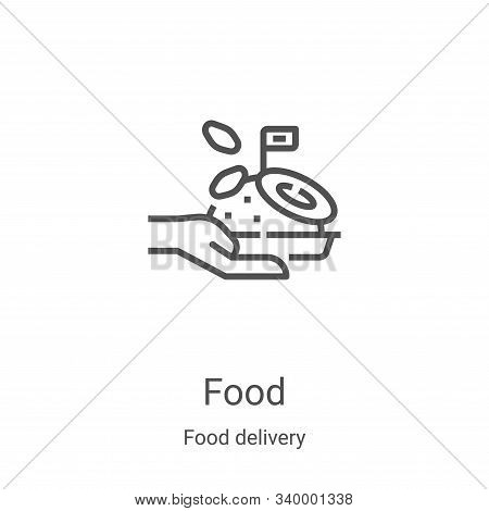 food icon isolated on white background from food delivery collection. food icon trendy and modern fo