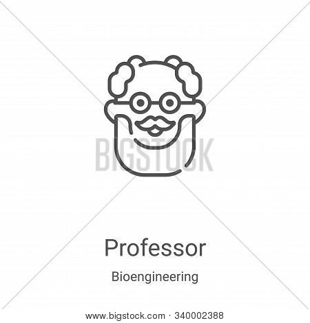 professor icon isolated on white background from bioengineering collection. professor icon trendy an