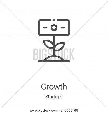 growth icon isolated on white background from startups collection. growth icon trendy and modern gro