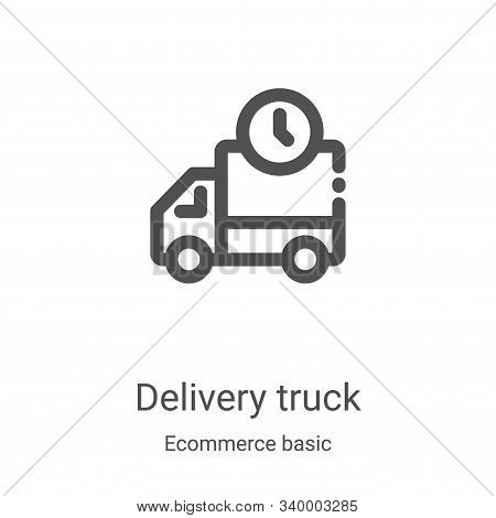 delivery truck icon isolated on white background from ecommerce basic collection. delivery truck ico