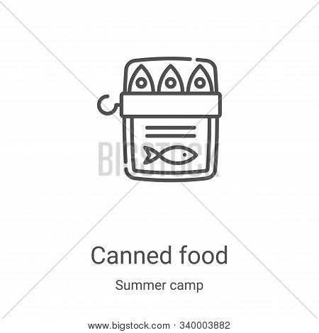 canned food icon isolated on white background from summer camp collection. canned food icon trendy a