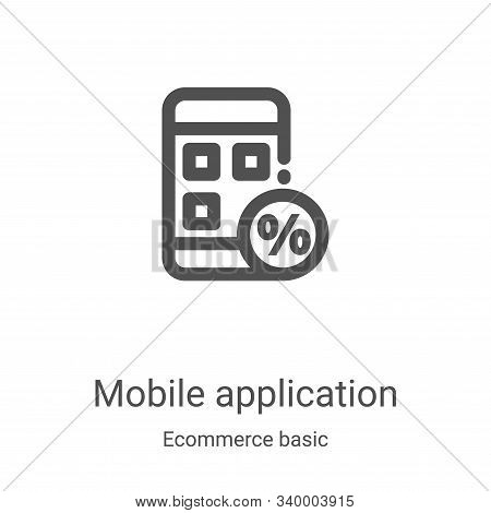 mobile application icon isolated on white background from ecommerce basic collection. mobile applica