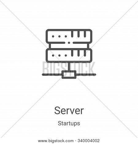 server icon isolated on white background from startups collection. server icon trendy and modern ser