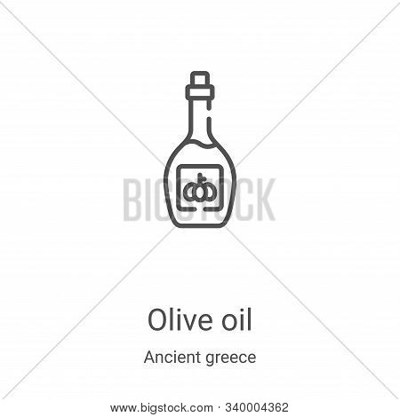 olive oil icon isolated on white background from ancient greece collection. olive oil icon trendy an