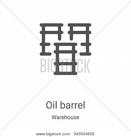 oil barrel icon isolated on white background from warehouse collection. oil barrel icon trendy and m