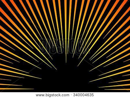 Sun Rays Or Explosion Boom. Hyper Speed Warp Sun Rays Or Explosion Boom For Comic Books Radial Backg