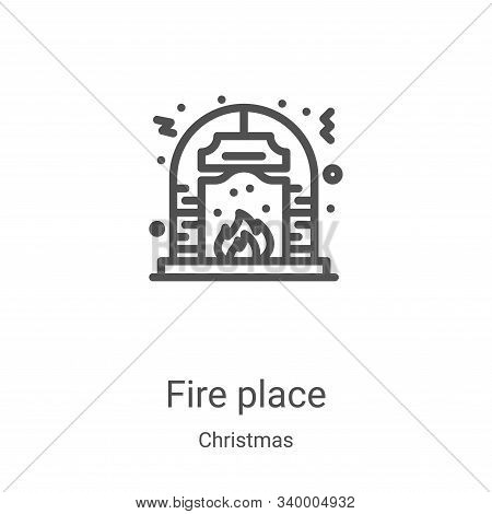 fire place icon isolated on white background from christmas collection. fire place icon trendy and m
