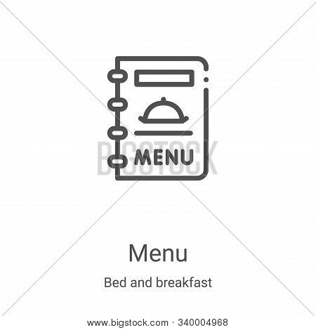 menu icon isolated on white background from bed and breakfast collection. menu icon trendy and moder