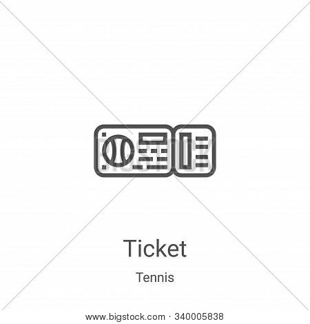ticket icon isolated on white background from tennis collection. ticket icon trendy and modern ticke