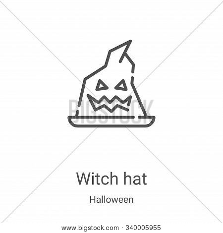 witch hat icon isolated on white background from halloween collection. witch hat icon trendy and mod