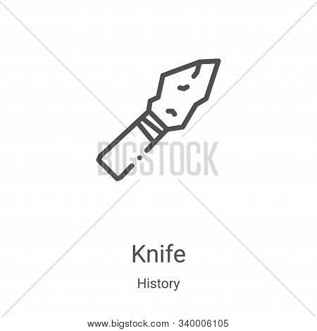 knife icon isolated on white background from history collection. knife icon trendy and modern knife