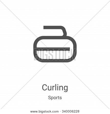 curling icon isolated on white background from sports collection. curling icon trendy and modern cur