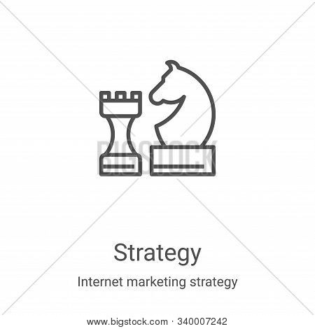 strategy icon isolated on white background from internet marketing strategy collection. strategy ico