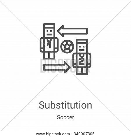 substitution icon isolated on white background from soccer collection. substitution icon trendy and