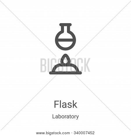 flask icon isolated on white background from laboratory collection. flask icon trendy and modern fla