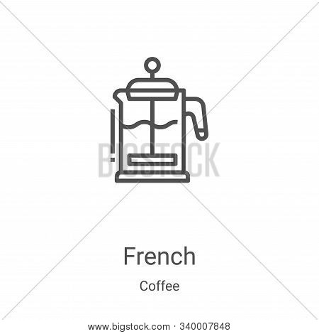french icon isolated on white background from coffee collection. french icon trendy and modern frenc