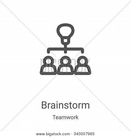 brainstorm icon isolated on white background from teamwork collection. brainstorm icon trendy and mo