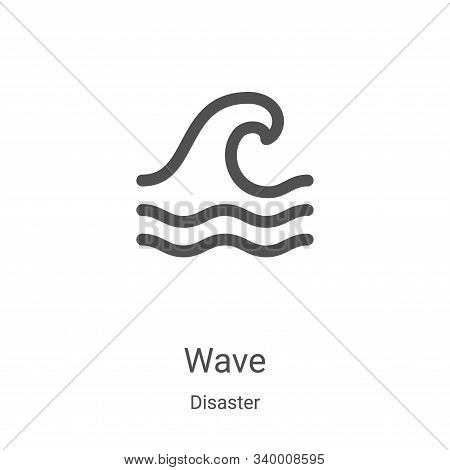 wave icon isolated on white background from disaster collection. wave icon trendy and modern wave sy