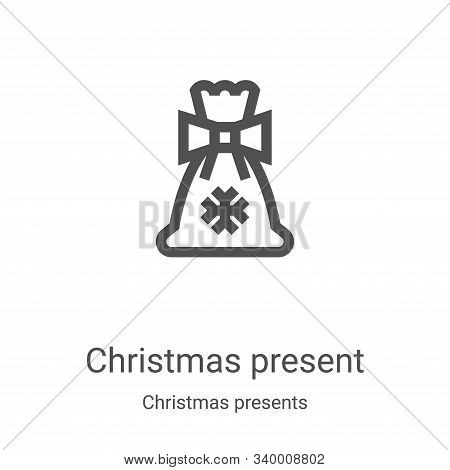 christmas present icon isolated on white background from christmas presents collection. christmas pr