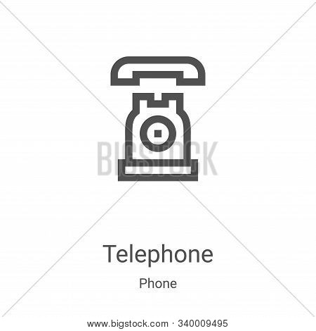 telephone icon isolated on white background from phone collection. telephone icon trendy and modern