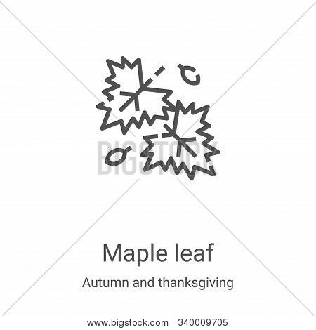 maple leaf icon isolated on white background from autumn and thanksgiving collection. maple leaf ico