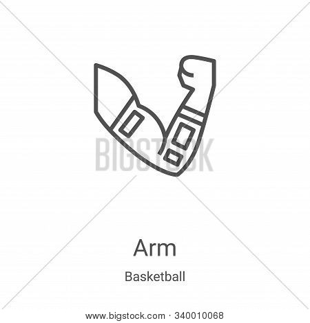 arm icon isolated on white background from basketball collection. arm icon trendy and modern arm sym