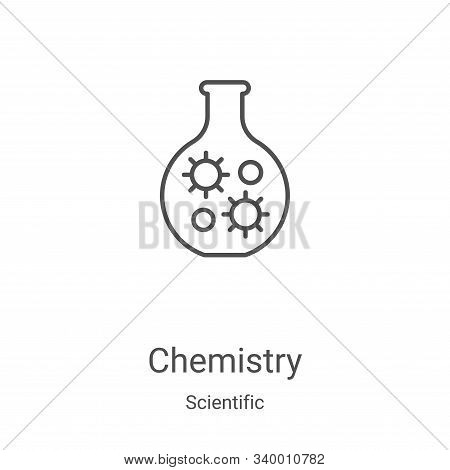 chemistry icon isolated on white background from scientific collection. chemistry icon trendy and mo