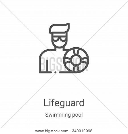 lifeguard icon isolated on white background from swimming pool collection. lifeguard icon trendy and