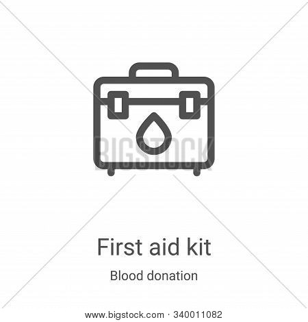 first aid kit icon isolated on white background from blood donation collection. first aid kit icon t