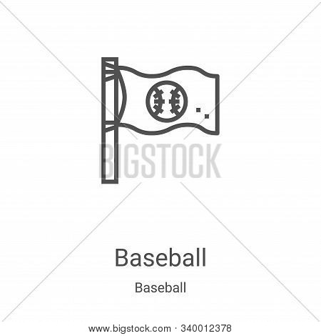 baseball icon isolated on white background from baseball collection. baseball icon trendy and modern