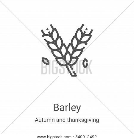 barley icon isolated on white background from autumn and thanksgiving collection. barley icon trendy