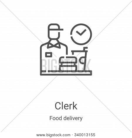 clerk icon isolated on white background from food delivery collection. clerk icon trendy and modern