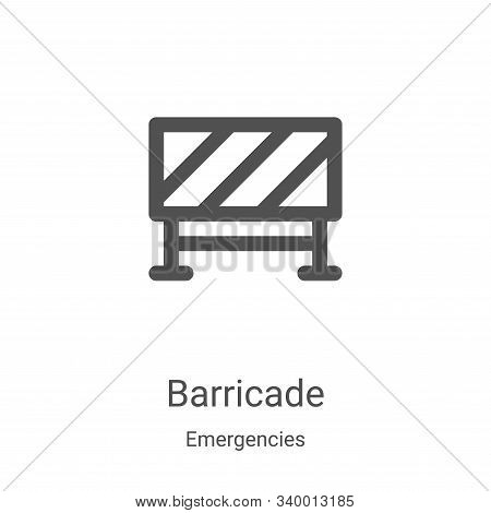 barricade icon isolated on white background from emergencies collection. barricade icon trendy and m