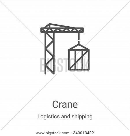 crane icon isolated on white background from logistics and shipping collection. crane icon trendy an