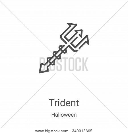 trident icon isolated on white background from halloween collection. trident icon trendy and modern