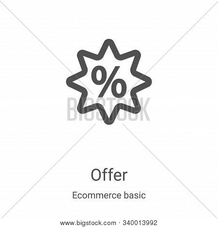 offer icon isolated on white background from ecommerce basic collection. offer icon trendy and moder
