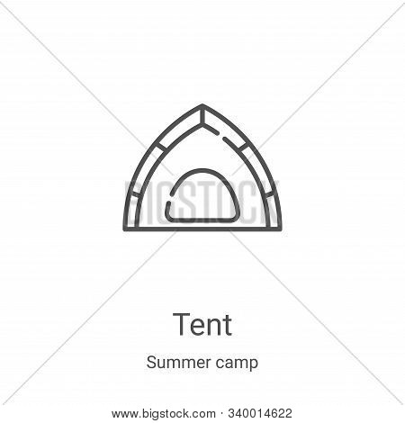 tent icon isolated on white background from summer camp collection. tent icon trendy and modern tent