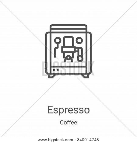 espresso icon isolated on white background from coffee collection. espresso icon trendy and modern e