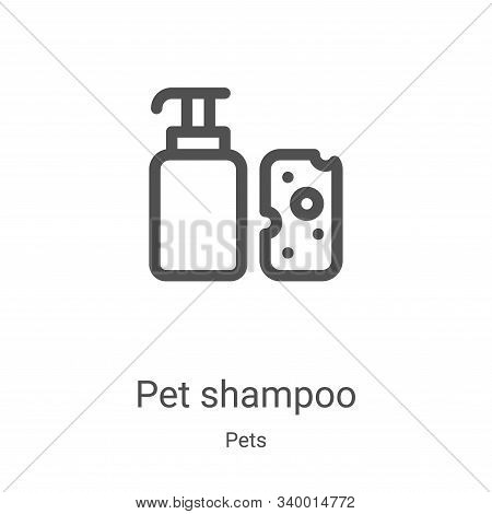 pet shampoo icon isolated on white background from pets collection. pet shampoo icon trendy and mode