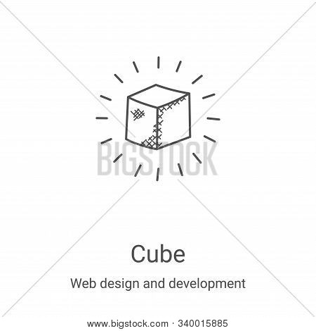 cube icon isolated on white background from web design and development collection. cube icon trendy