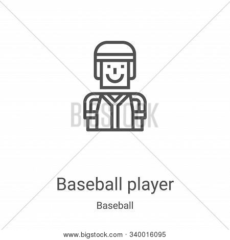 baseball player icon isolated on white background from baseball collection. baseball player icon tre