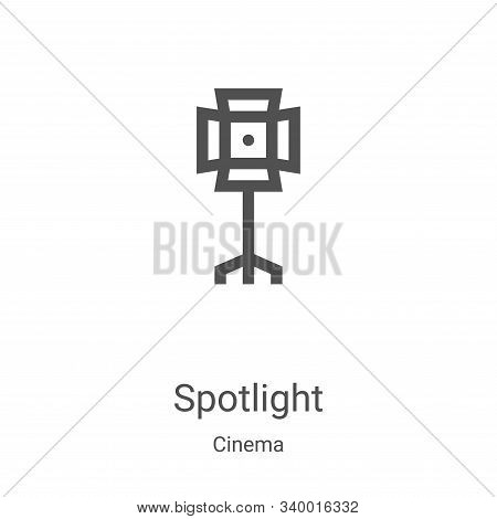 spotlight icon isolated on white background from cinema collection. spotlight icon trendy and modern