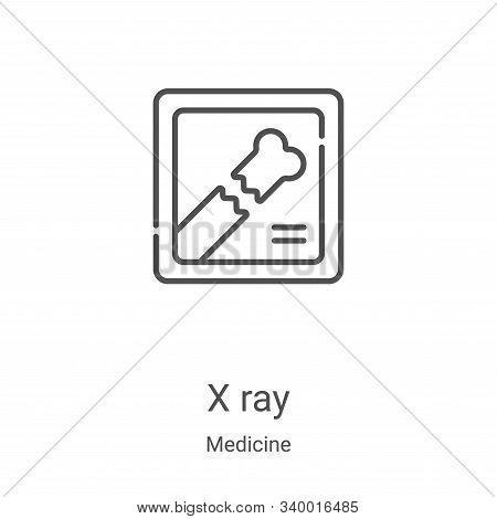 x ray icon isolated on white background from medicine collection. x ray icon trendy and modern x ray