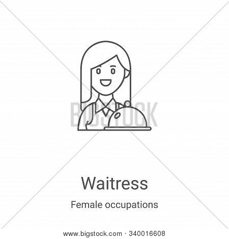 waitress icon isolated on white background from female occupations collection. waitress icon trendy