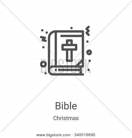 bible icon isolated on white background from christmas collection. bible icon trendy and modern bibl